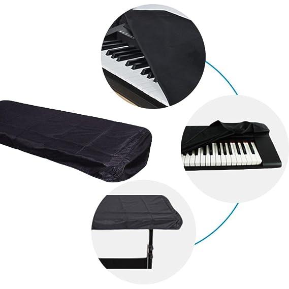 Cubierta de teclado para piano para 61 teclas, cubierta de polvo para piano Elástica a prueba de polvo a prueba de polvo para teclado electrónico, ...