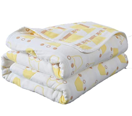 Amazon.com: ATR Baby Bath Towel Cotton Gauze Bath Newborn Towel ...