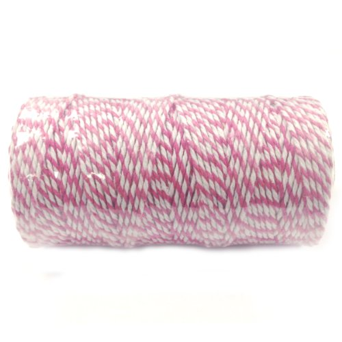 Wrapables 12-Ply Cotton Baker's Twine, 110-Yard, Hot Pink by Wrapables