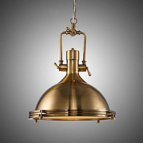 KWOKING Lighting Industrial Pendant Light 1 Light Adjustable Hanging Lamp Island Lighting Vintage Indoor Hanging Lamp in Brass