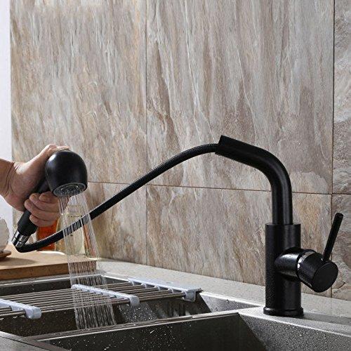 Gyps Faucet Waschtisch-Einhebelmischer Waschtischarmatur Badarmatur Die Spüle Wasserhahn Voll Kupfer Heiße und Kalte Ziehen Taps A,Mischbatterie Waschbecken