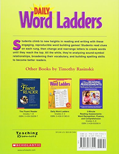 Daily Word Ladders Grades 4 6 100 Reproducible Word