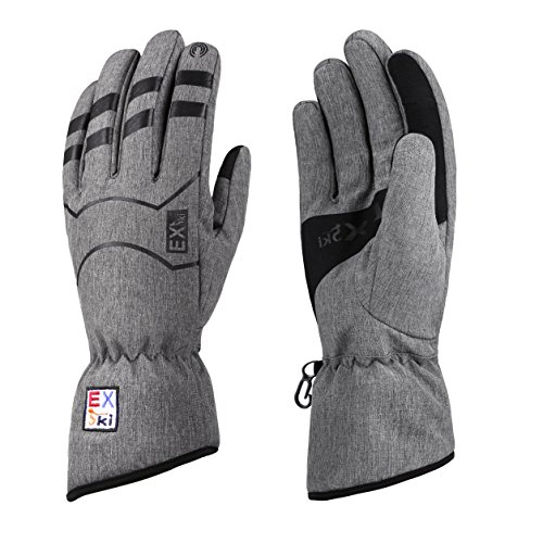 EXski Winter Waterproof Touchscreen Thinsulate Fleece Lined Driving Cycling Skiing Warm Gloves Cold Weather Mens Womens Large