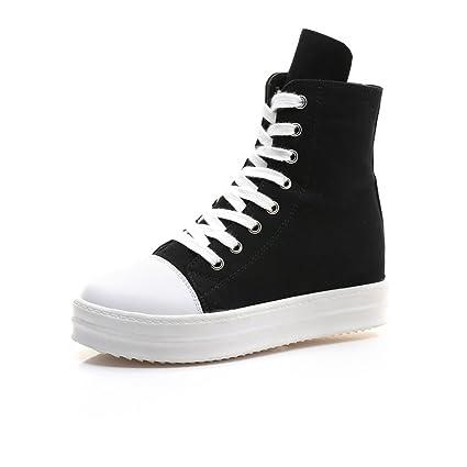 c062704e06079 Amazon.com: Women's Shoes Canvas Shoes 2018 Spring Fall High Top ...