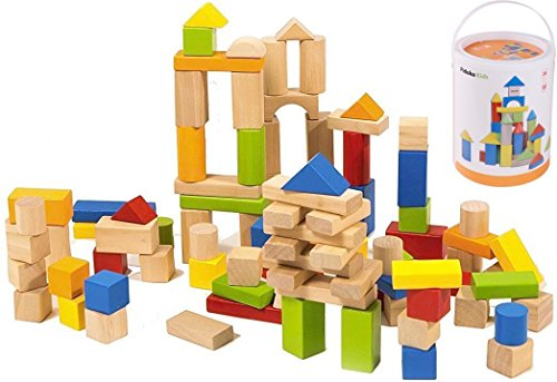 Set of Kids Baby Educational Toys Wooden Building Block Toddler Toys for Boys Girls - 9