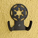 HeavenlyKraft Star Wars Logo Steel Wall Hook Dual Holder For Living Room Coat Hat Robe Hanger Bathroom Towel Kitchen Strong Heavy Duty Garage Storage Organizer Utensil Hook Single, 4 X 3.14 X 1.4 Inch