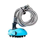 ACTLATI Pet Shower Kits Multifunctional Dogs Cats Bath Massager Brush Grooming Tool With Stainless Steel Hose