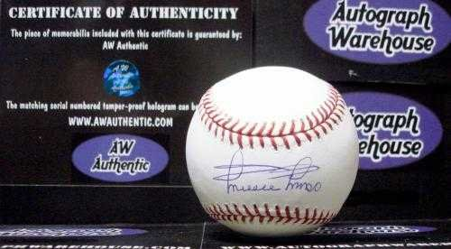 (Minnie Minoso autographed baseball (White Sox Indians Cuba Negro League OMLB) AW Certificate of Authenticity Hologram)