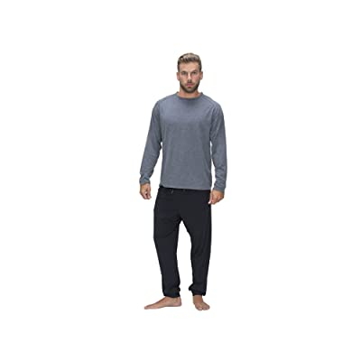 SHEEX 828 Motion Men's Long Sleeve Easy Tee, Heather Gray, Small: Home & Kitchen
