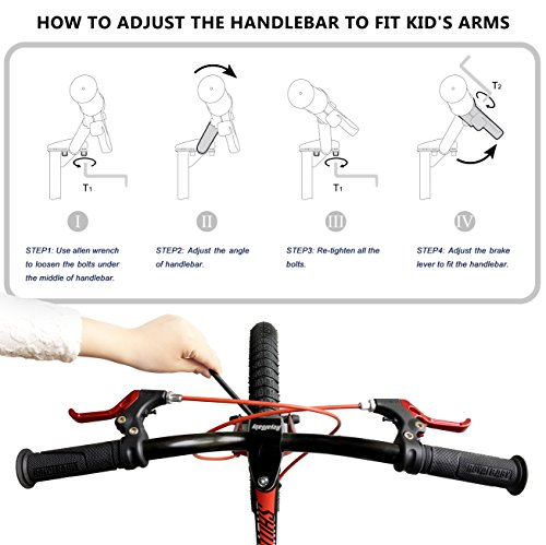 RoyalbabySpace Shuttle Lightweight Magnesium Kid's Bike with Disc Brakes for Boys and Girls, 18 inch with Kickstand, Lilac by Royalbaby (Image #8)