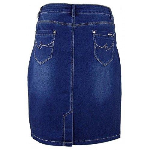 Jupe Isabella en Bleu coupe droite jean BrWUwgqB1