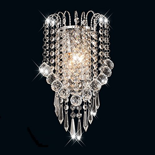 Scone Wall Lamp (Surpars House Crystal Wall Lamp,Silver)