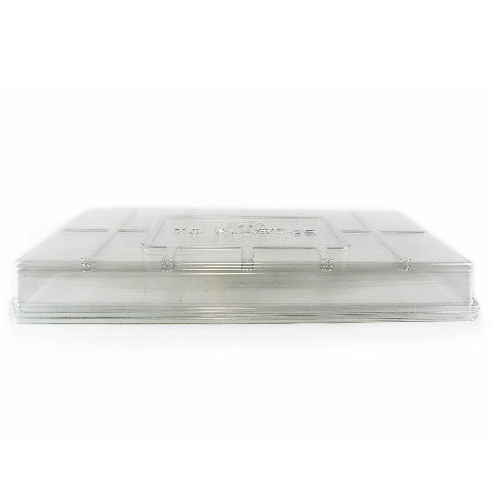 Plant Tray Clear Plastic Humidity Domes: Pack of 5 - Fits 10 Inch x 20 Inch Garden Germination Trays - Greenhouse Grow Covers by Living Whole Foods