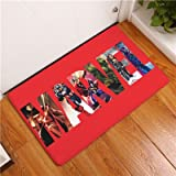 15 X 23 inch Red Captain America Bathroom Mat, Blue Hulk Bathroom Rug Superhero Thor Characters Themed Bathroom Mat Superheroes Movie Characters Greene Black Multicolored, PVC