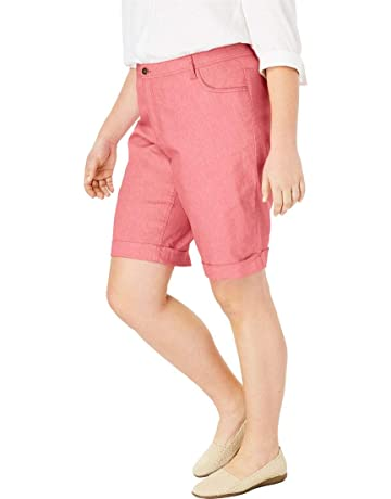 f82713453fde Woman Within Women s Plus Size Stretch Jean Bermuda Short