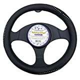 steering wheel cover crystal - Black Embedded Crystal Accent Stripe Steering Wheel Cover 14.5