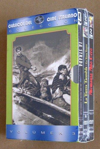 La Calle (La Strada) / La Tierra Tiembla (La Terra Trema) / Alemania Ano Cero (Germania Anno Zero) - Clasicos del Cine Italiano vol. 3, 3-dvd boxset [*Ntsc/region 1 & 4 Dvd. Import-latin America] Spanish cover/subtitles