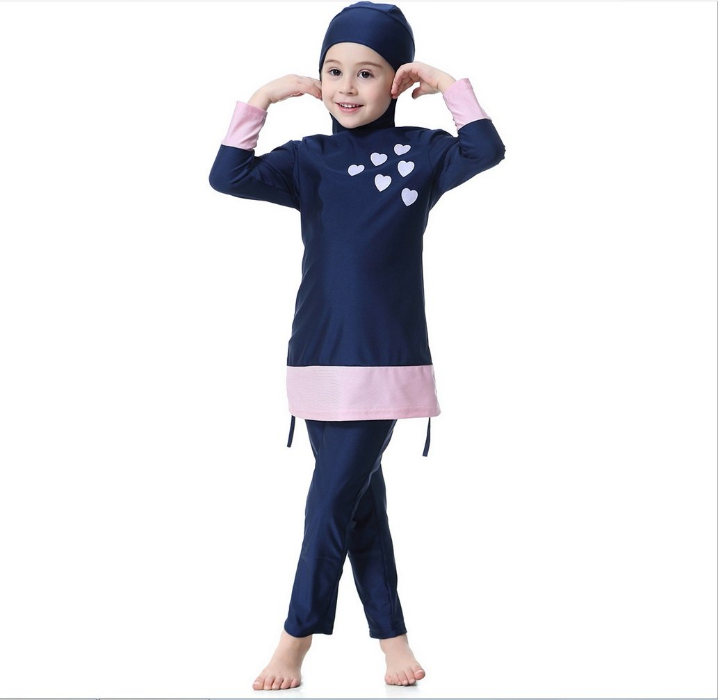 ede792cb95 Color : Gray Split Swimsuit with HatZHANGM FXFAN Muslim Girl Traditional  Fashion Swimsuit Swimwear Three-Piece