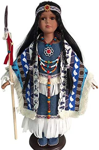 Native American Porcelain Dolls-Limited Ed.Collectible Porcelain doll-Gifts New