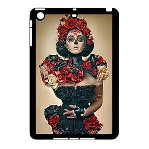 J-LV-F Design Case Sugar Skull Customized Hard Plastic Case for iPad Mini