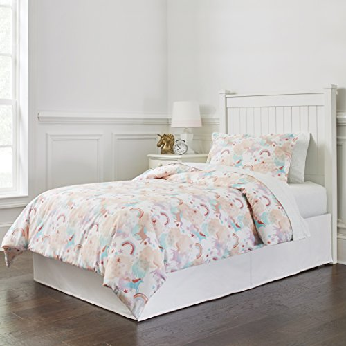 (Lullaby Bedding Comf Twin Unicorn Percale Comforter Set,)
