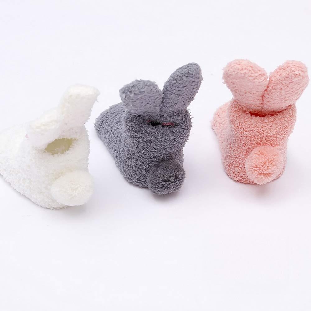 Vivianbuy 3 Pairs Super Soft Velvet Novelty Baby Socks Toddler Animal Socks for Infant Baby Socks