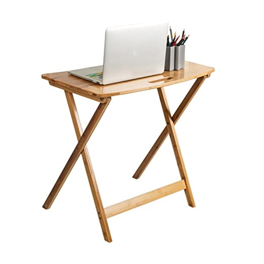 Escritorios HAIZHEN Tabla de Ocio de bambú Mesa Plegable Mesa de ...