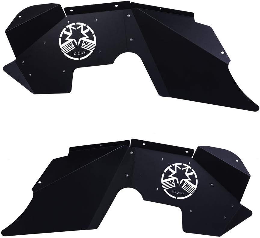 ZESUPER Front Inner Fender for 2007-2018 Jeep Wrangler JK JKU High Strength Steel Design Black