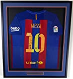 """Lionel """"Leo"""" Messi Autographed Framed Barcelona Qatar Airways Nike Authentic Jersey Size XL PSA/DNA"""