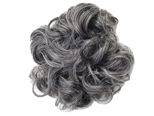 Peppers Scrunchie (New Style Hair Extensions Curly Messy Drawstring Updo Full Bun In Bour Unique... Synthetic)