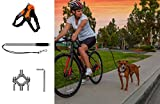 Securpup Dog Bike Leash with Harness (2-Piece Set) Adjustable Bicycle, Cycling, Running Pet Attachment | Reflective Webbing | Easy Installation (Large, Orange)