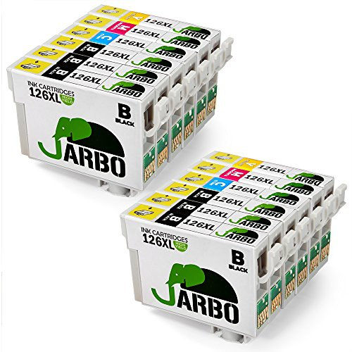 JARBO 2 Set+4 Black Replacement for Epson 126XL Ink Cartridge High Yield, Worked with Epson Stylus NX430 Workforce 845 645 545 435 520 630 633 WF-3520 WF-3540 WF-7510 WF-7520 WF-7010 WF-3530 Printer