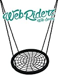 Web Riderz Outdoor Swing N Spin- Safety rated to 600 lb, 39 inch diameter, Adjustable hanging ropes, Ready to hang and enjoy as a family