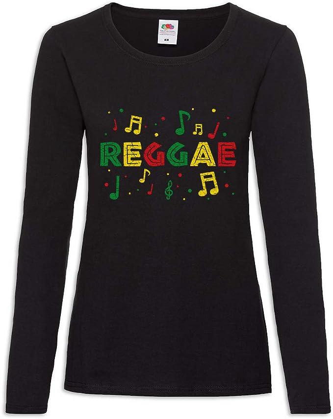 Urban Backwoods Rasta Reggae Notes Women T-Shirt Mujer ...