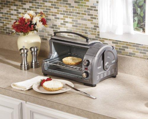 040094313341 - Hamilton Beach Easy Reach Toaster Oven, Metallic (31334) carousel main 1