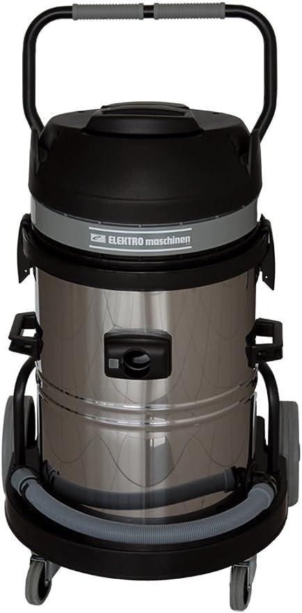 Tres la Industria Motores 3 x 1200 W/agua aspirador mojado y seco aspiradora REM MCI 6402/62 l/mejorada transporte/Anti bacterias filtro/Aire Potencia: 630 M3/H/Marca de calidad de la UE: Amazon.es: Hogar