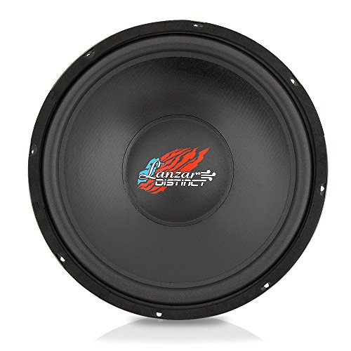 Lanzar 18in Car Subwoofer SVC - IB Open Air Audio Stereo Speaker, 4 Ohm Impedance, Steel Basket, 400 Watt Power, Non-Pressed Paper Cone and Foam Surround for Vehicle Sound System - Car Subwoofer Steel