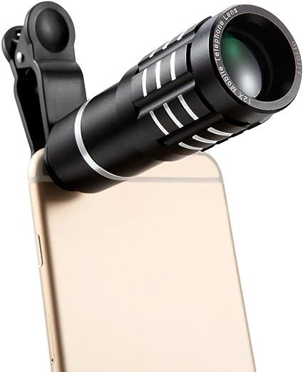 Siroflo Kit Universal 12x Smartphone con Telescopio, Cámara con Lente para Teléfono Móvil, iPhone x / 8 7 Plus / 6s Huawei Samsung Galaxy s8 s7 y Android: Amazon.es: Electrónica