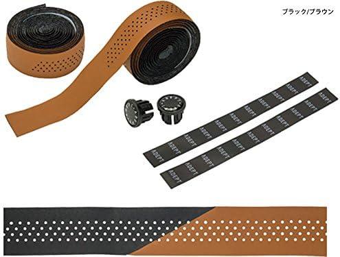 アデプト バイカラード バーテープ ブラック/ブラウン(HBT03102
