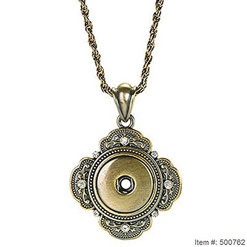 """Ginger Snaps 32"""" AB GRAND NECKLACE SN90-94 Interchangeable Jewelry Snap Accessory"""