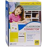 C-Line Classroom Connector School-to-Home Folders, Yellow, 25 per Box (32006)