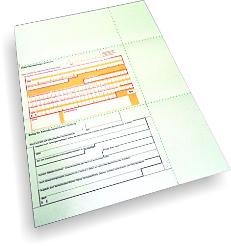 Überweisungsträger SEPA - Überweisungsträger mittig mit Beleg, 250 Blatt, DIN A4, 90 g/qm OCR-Beleglesepapier