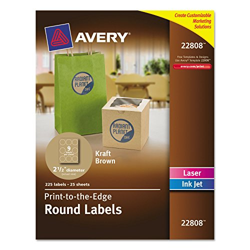 Avery Brown Kraft Round Labels