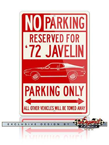 AMC AMX Javelin Coupe 1972 Reserved Parking Only Aluminum...