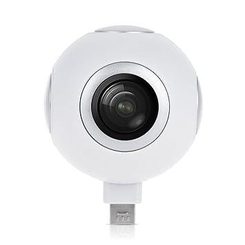 Andoer Mini 360 ° VR vídeo cámara HD Cam panorámica apoyo Live Streaming en línea compartir