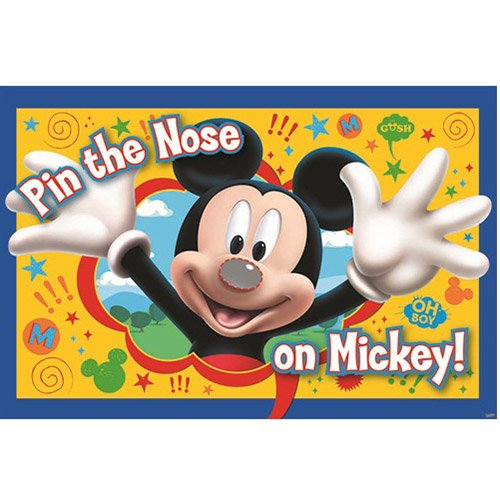 Mickey Party Game, Pin The Nose on Mickey, (Birthday Party Games Halloween Theme)