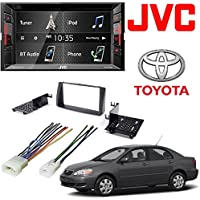 JVC Double Din BT In-Dash DVD/CD/AM/FM Car Stereo w/ 6.2 Touchscreen 2008 Corolla Double 2 Din Car Stereo Radio Install Dash Kit W/ Wire Harness
