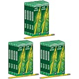 Dixon Ticonderoga Wood-Cased #2 HB Pencils, Box of 96, Yellow (13882) by Dixon Ticonderoga