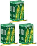 NCVBHDGH Ticonderoga Wood-Cased 2 HB Pencils, Box of 96, Yellow 3 Pack