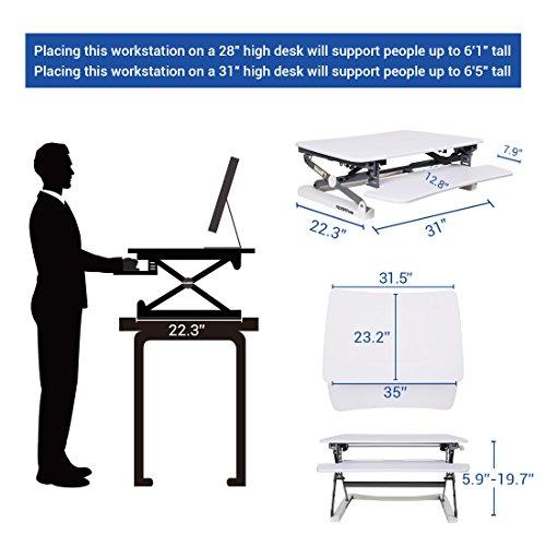 Flexispot M2w Standing Desk Riser 35 Quot Wide Platform